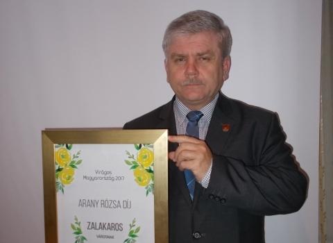 Arany Rózsa díj a városnak