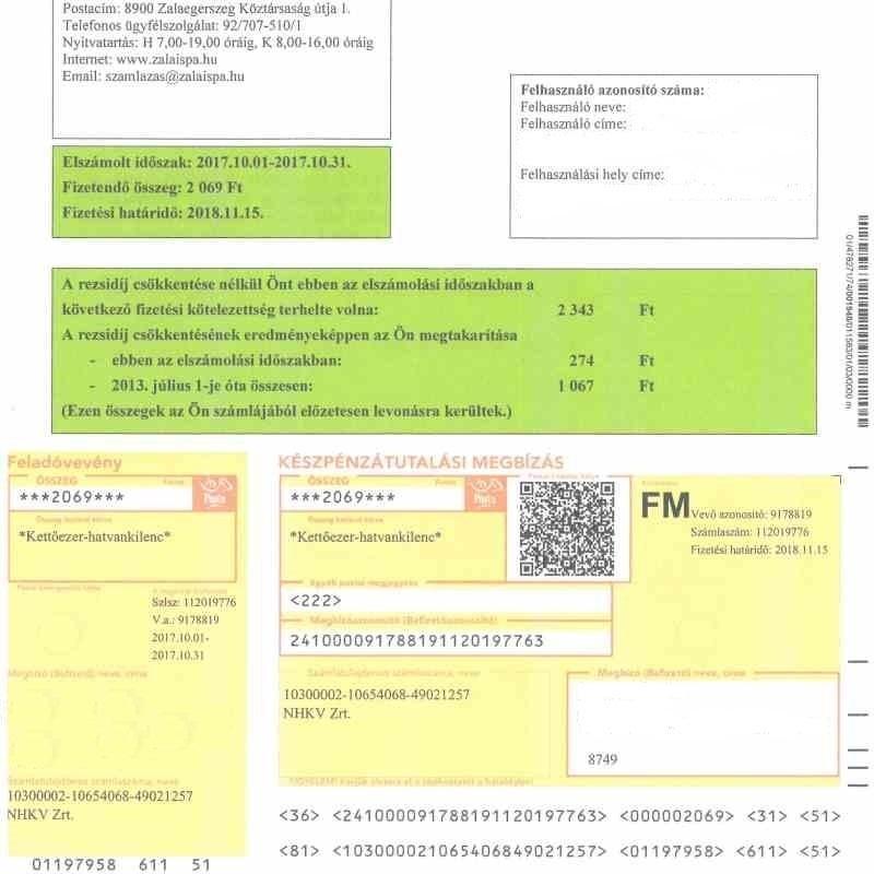 Tájékoztatás hulladékgazdálkodási közszolgáltatási számláról