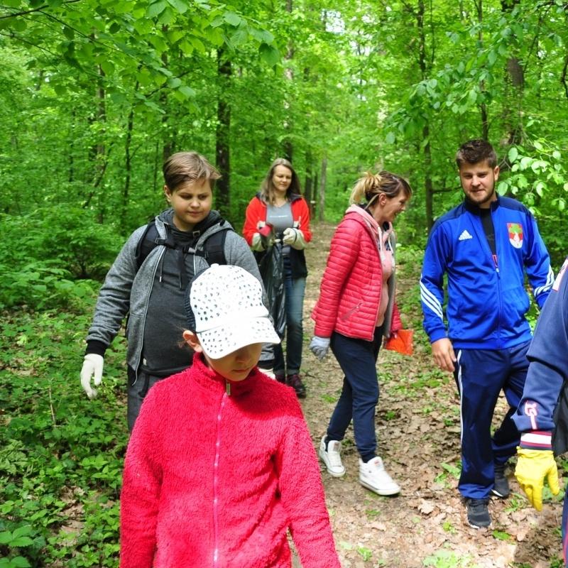 Önkéntesek tisztították a parkerdőt
