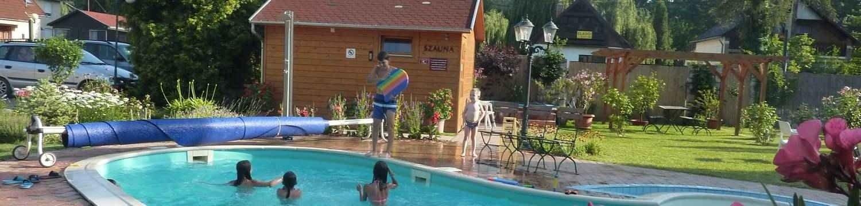 Zsanett Hotel szauna faház, medence